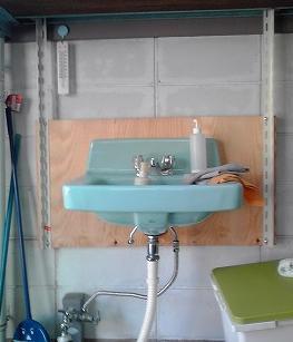 先日取り付けた「手洗い場」です
